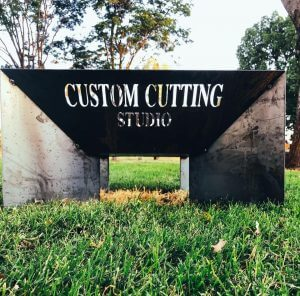 Square Fire Pit with custom cut outs